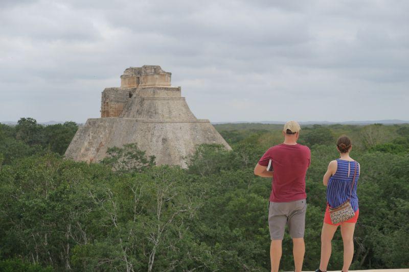 Visiting Uxmal, Mexico
