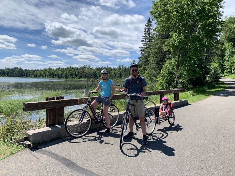 Biking at the Mississippi Headwaters in Minnesota