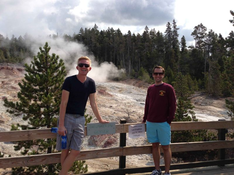 Geyser Viewing in Yellowstone
