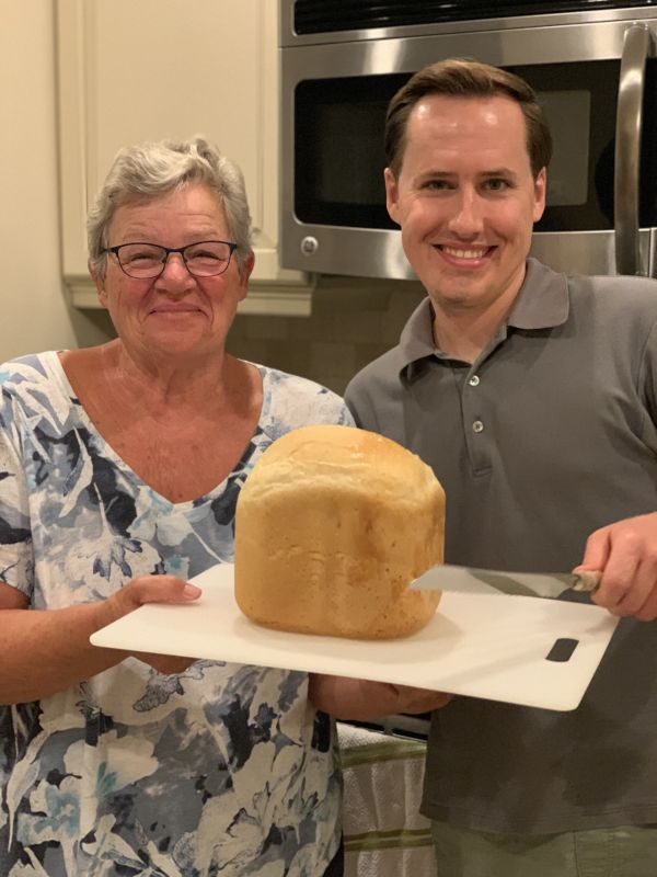 Jeff Baking Bread with Marc's Mom