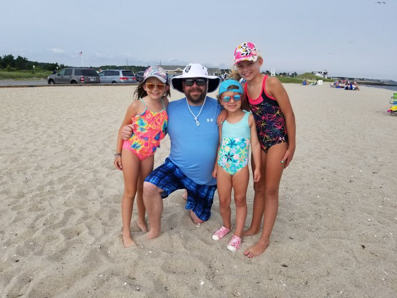 At the Beach With Our Nieces