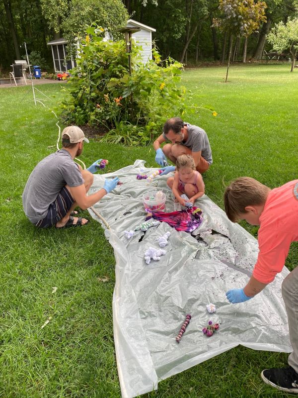 Tie Dying With Our Niece & Nephew