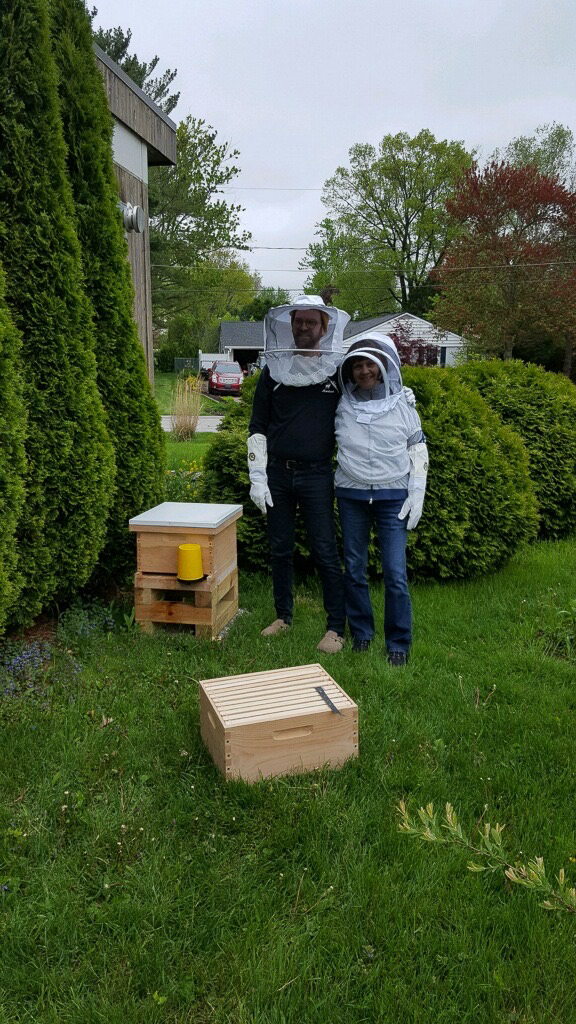 John Beekeeping With His Mom