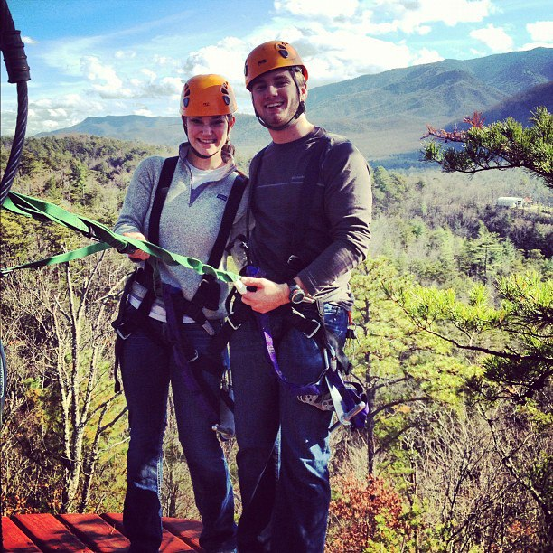 Ziplining in the Mountains
