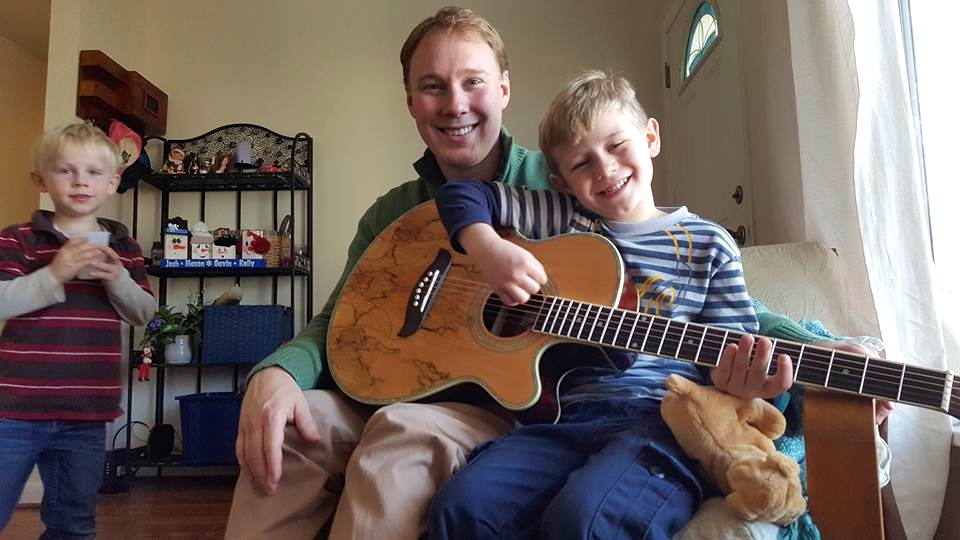 Teaching Our Nephews Guitar