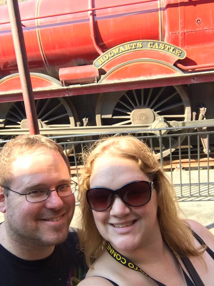 In Front of the Hogwarts Express at Universal Studios