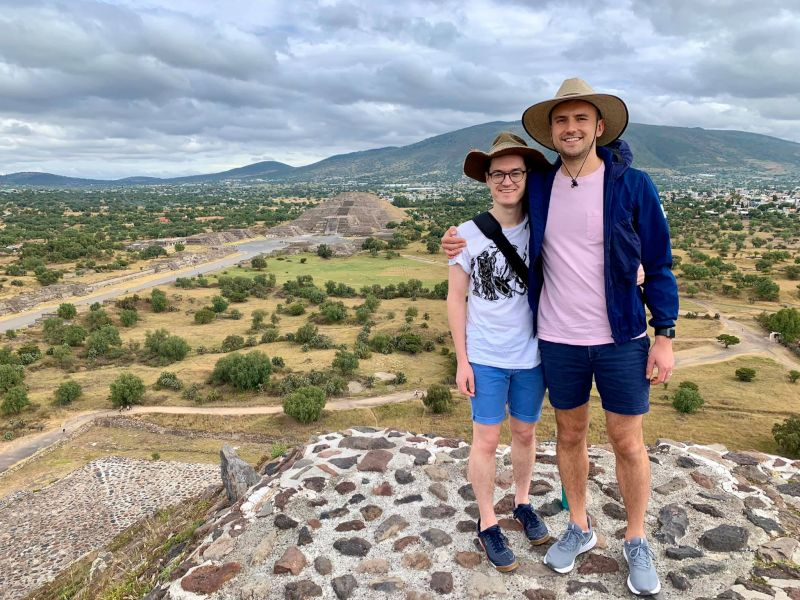 Made it to the Top of the Pyramid in Mexico