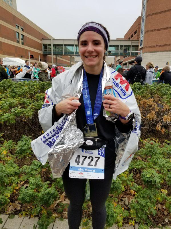 Just Finished Her First Marathon