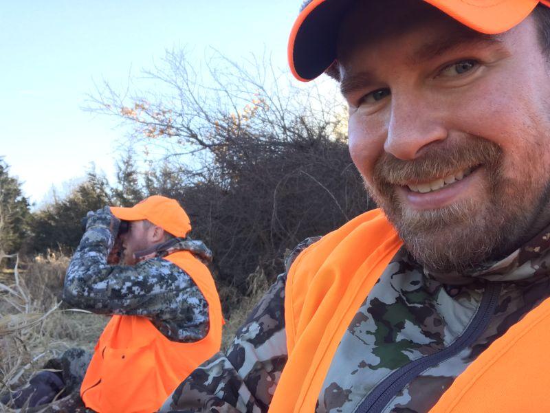Matt Hunting with a Friend