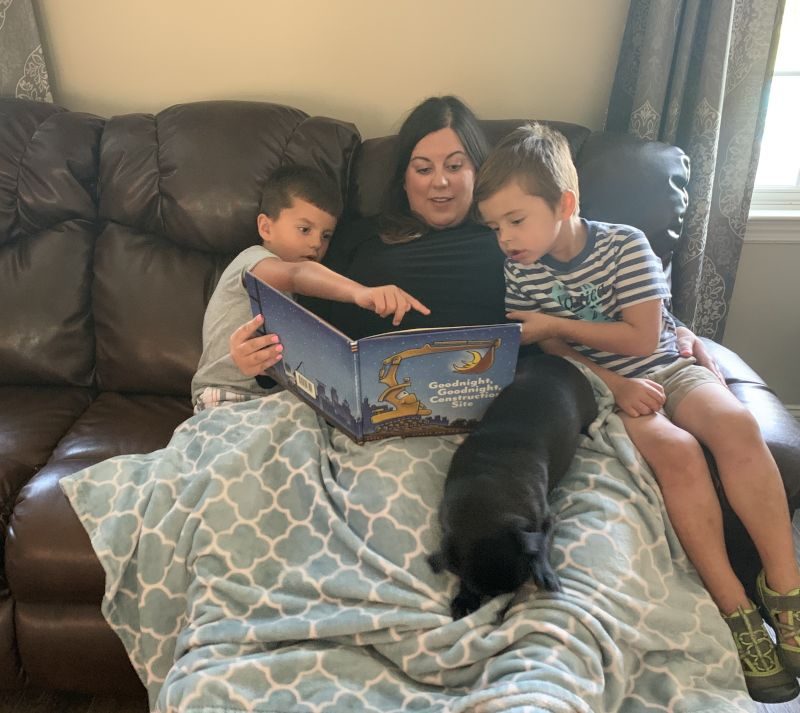 Reading with Our Nephews