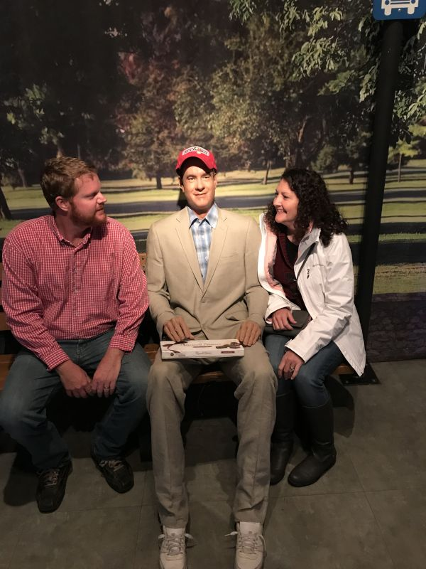 Chatting with Forrest Gump at a Wax Museum