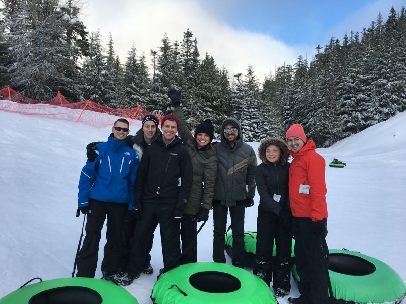 Tubing on Mt. Hood With Friends