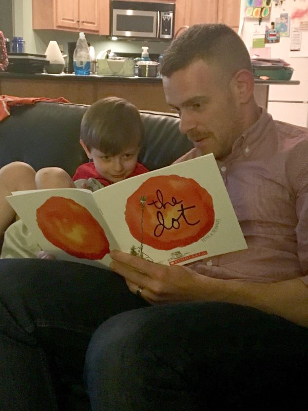 Colin Reading to Our Nephew