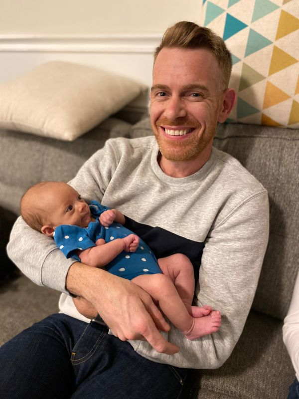 Colin Meeting His Friend's First Child