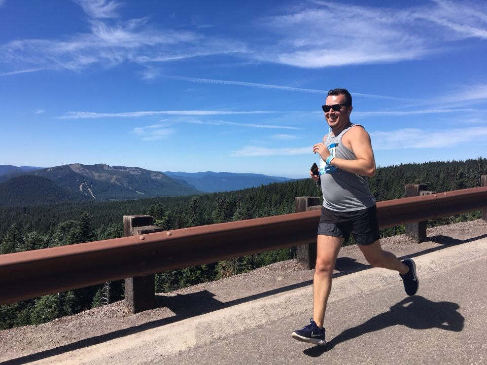 Misael Kicking Off a Long Distance Relay in Oregon