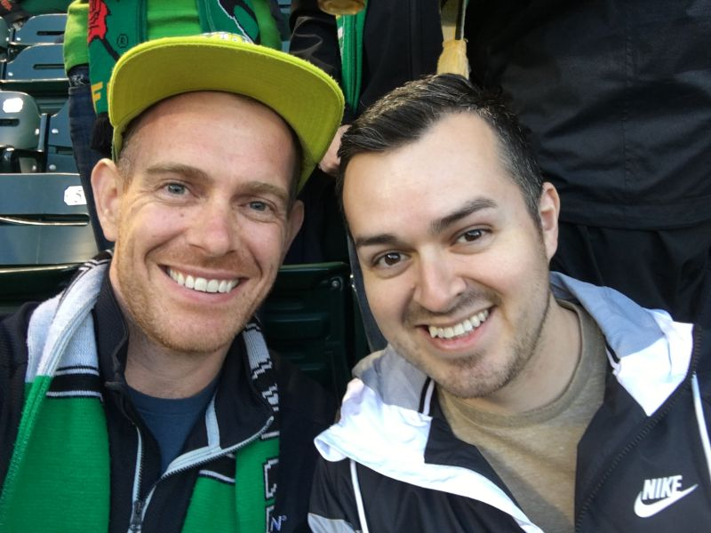 Cheering On the Portland Timbers
