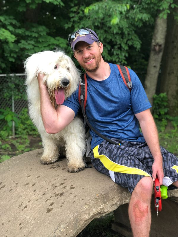 With Dyson at the Dog Park