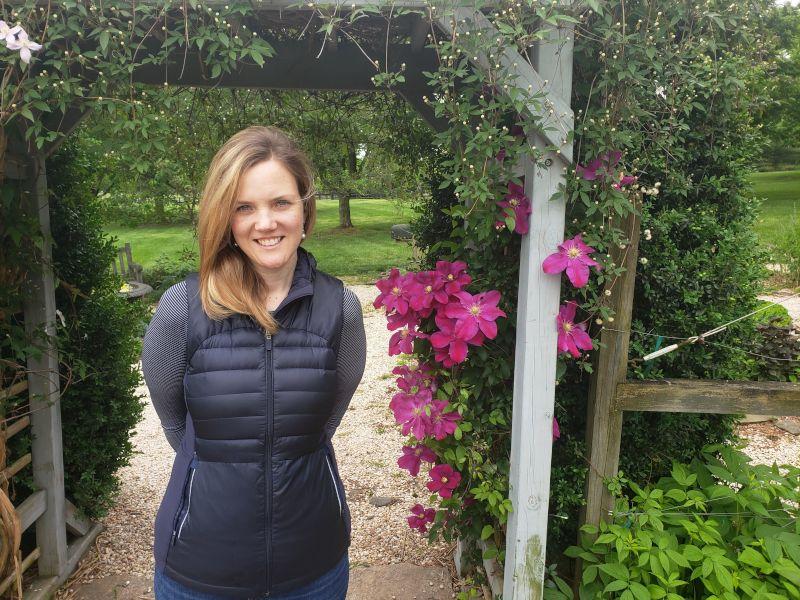 Christine at a Botanical Garden