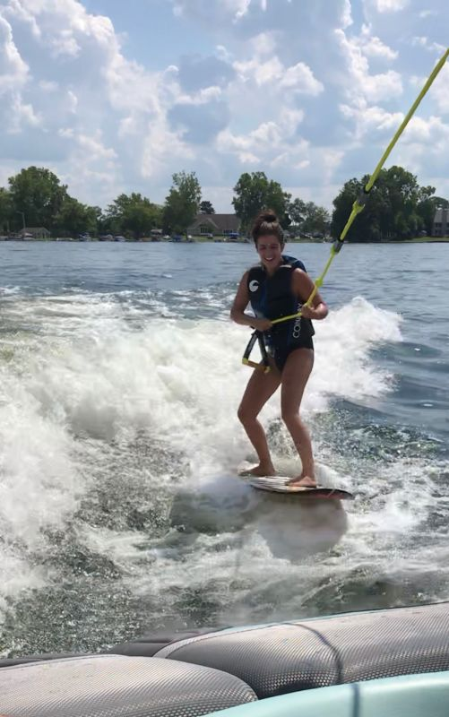 Nicole Wake Surfing