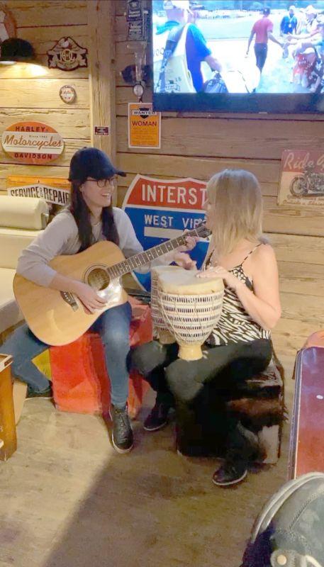 Nicole Playing Guitar