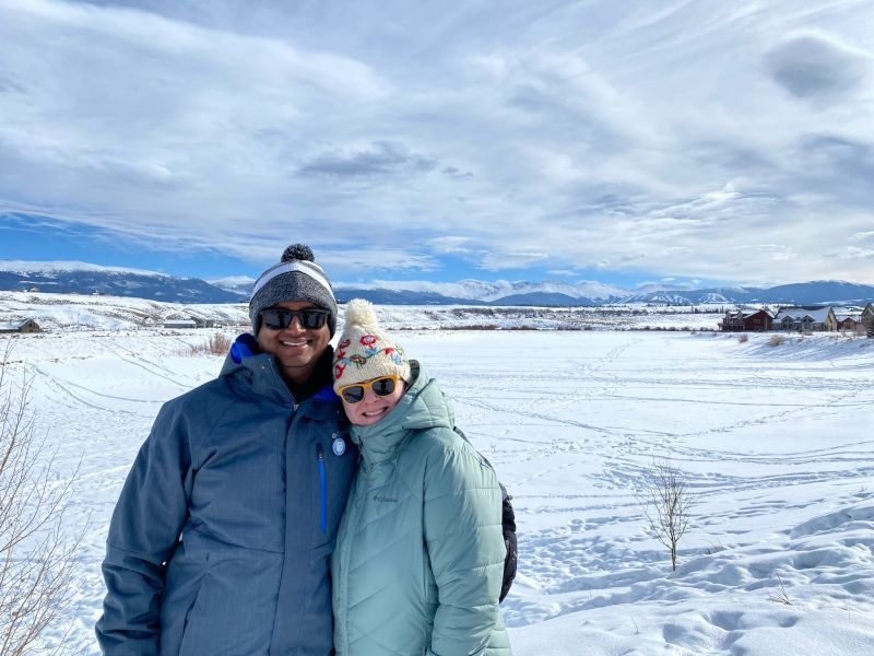Enjoying a Winter Wonderland in the Rocky Mountains