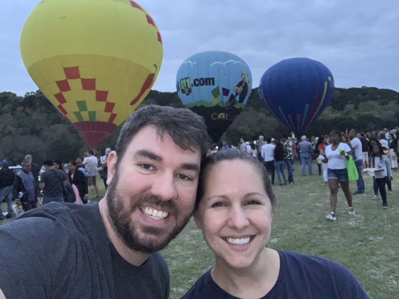At the Local Balloon Festival