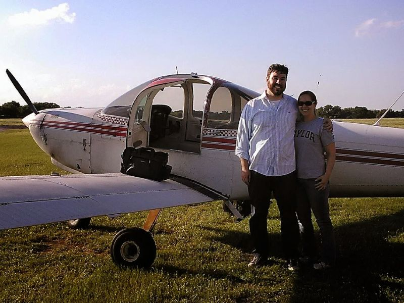 Celebrating Bryan's First Solo Flight