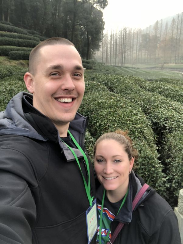 Taking in the Beauty of a Green Tea Farm in China
