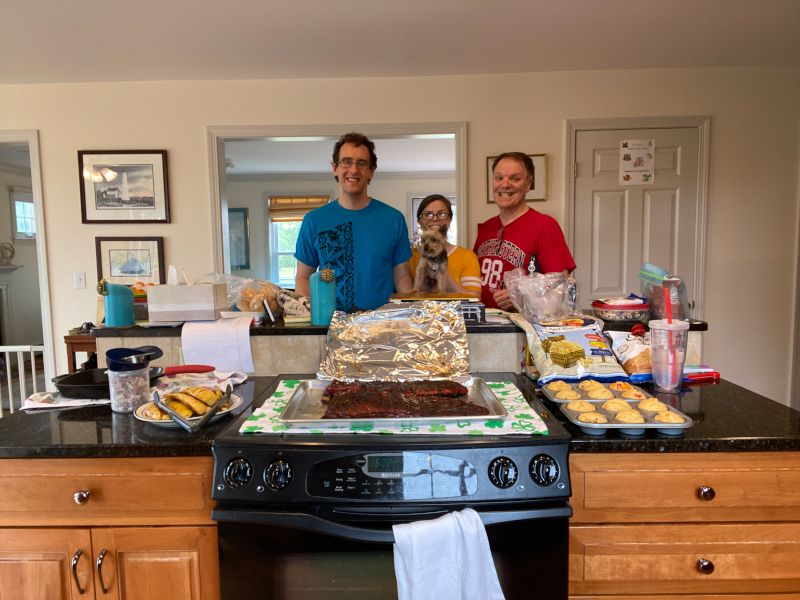 Cooking as a Family at Maile's Dad's House