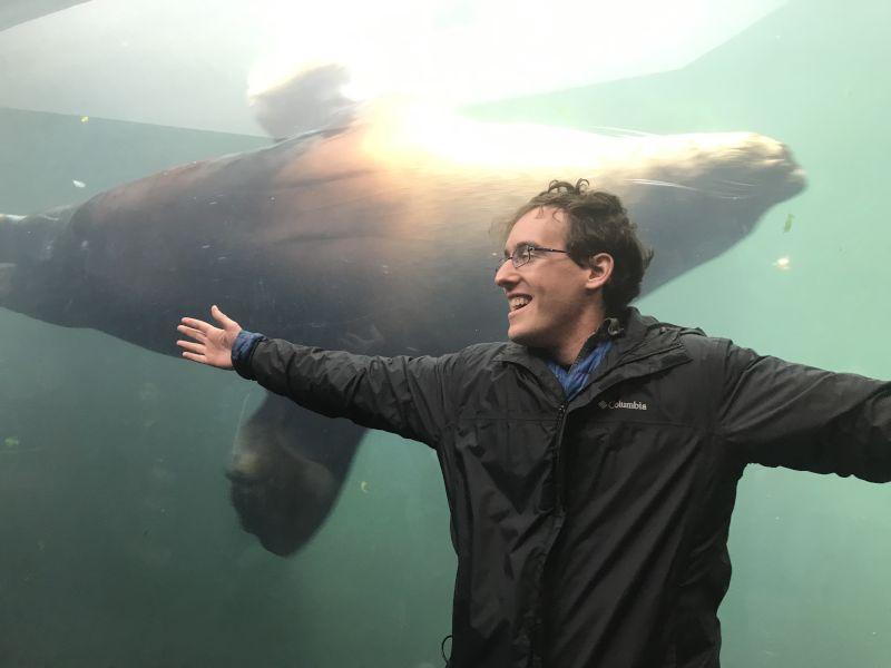 Matthew at the Aquarium
