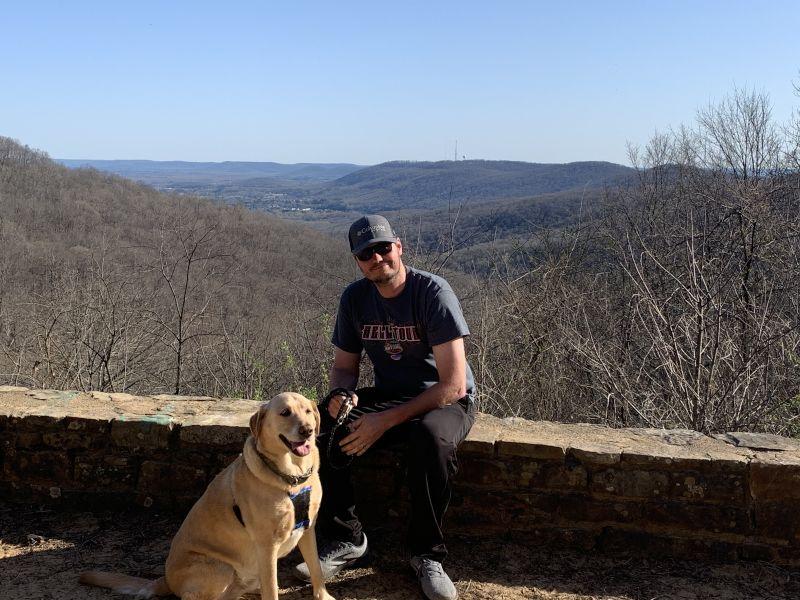 Jason & Preston Enjoying the North Alabama View