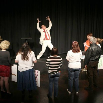 Joe Acting in Community Theater