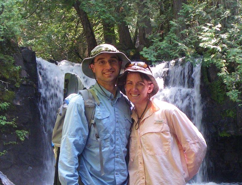 At Johnson Falls at the Boundary Waters Canoe Area