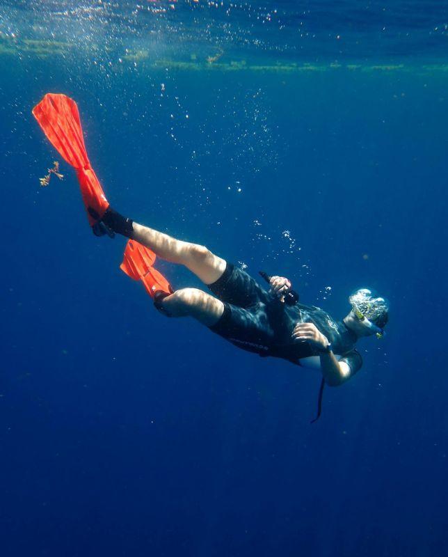 Ryan Snorkeling in Mexico