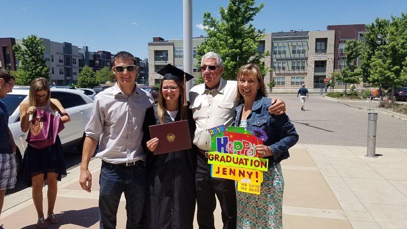 Celebrating Jenny's Graduation