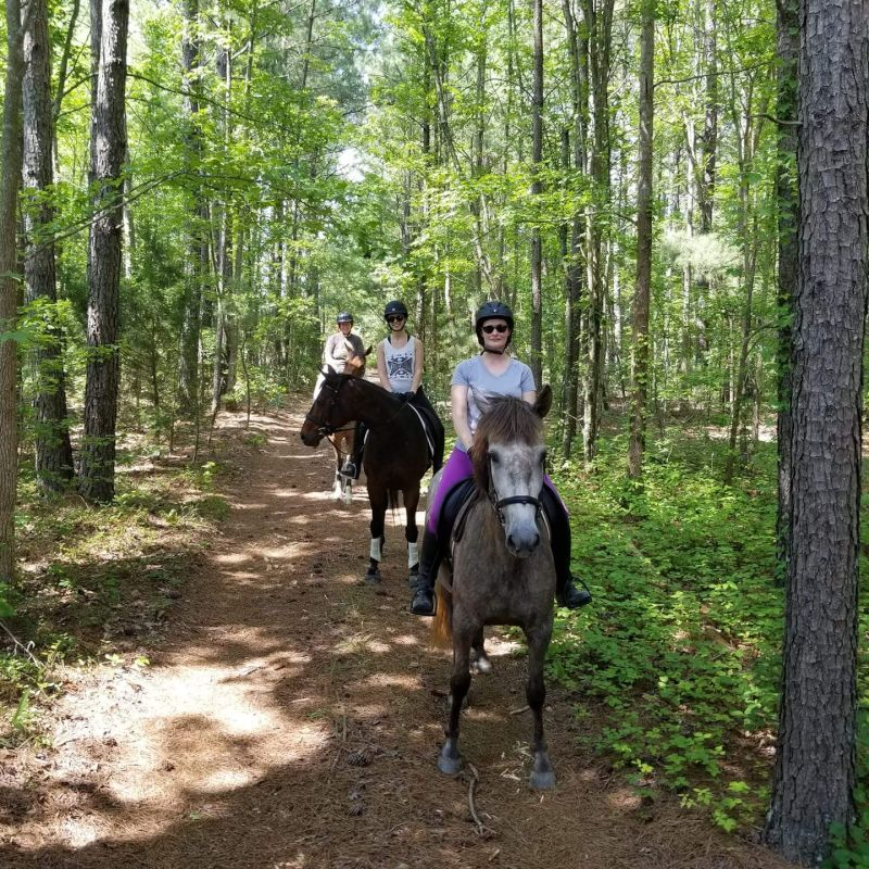 Katherine Trail Riding With Friends