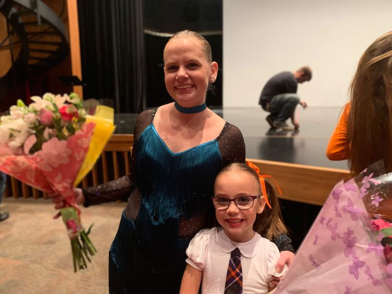 Amy and Kaia After a Dance Recital