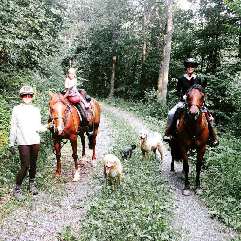 Horseback Riding with Kaia and Wade's Mom