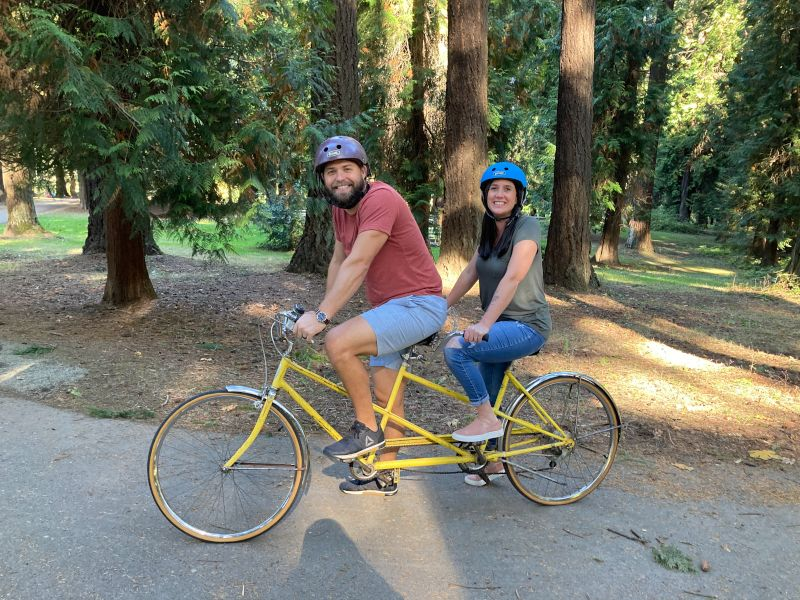 Riding Our Tandem Bike