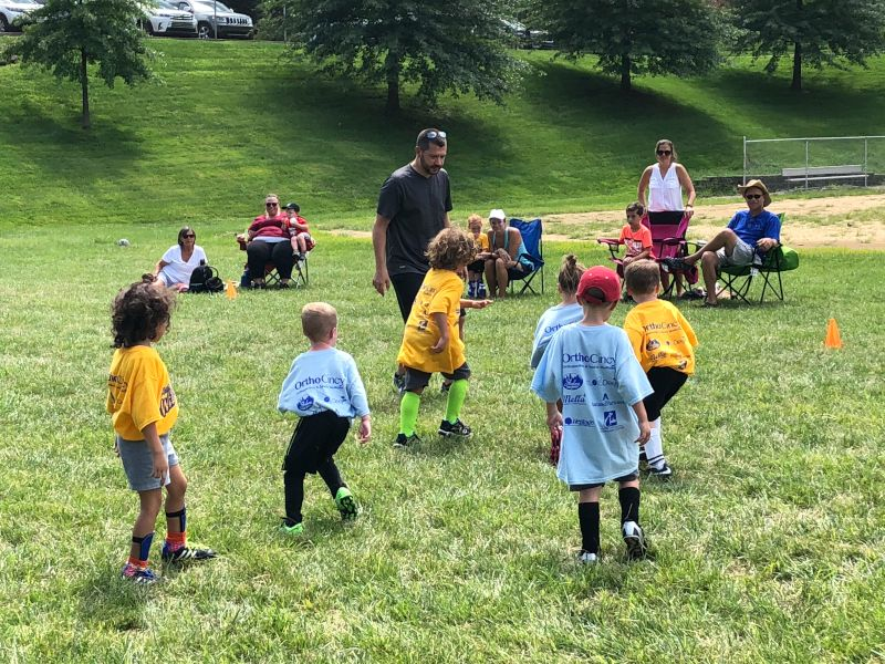 Jason Coaching Soccer