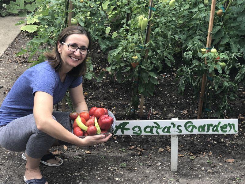 Agata in Her Garden