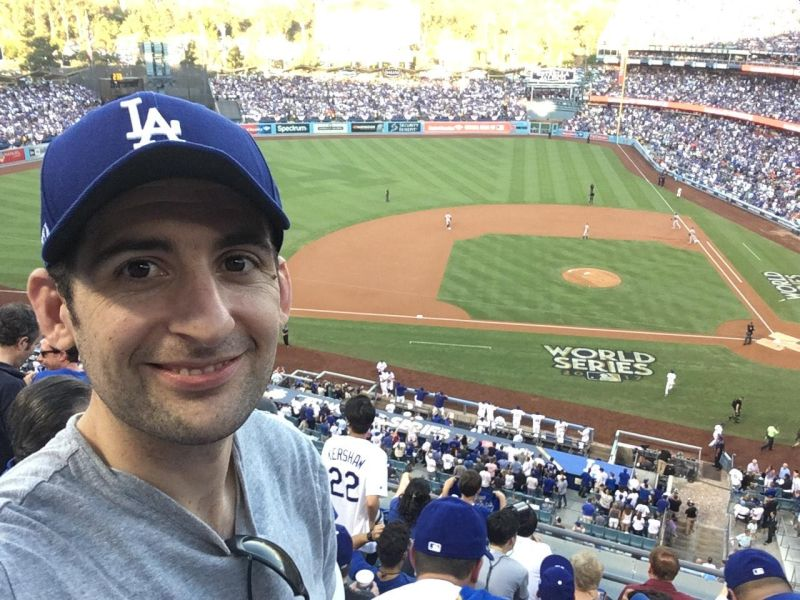 Mike at the World Series