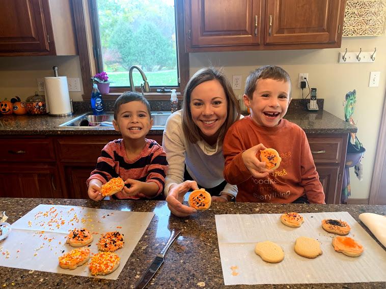 Decorating Pumpkin Cookies