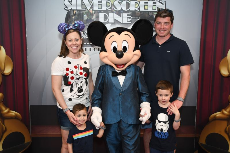 Meeting Mickey at Disney World