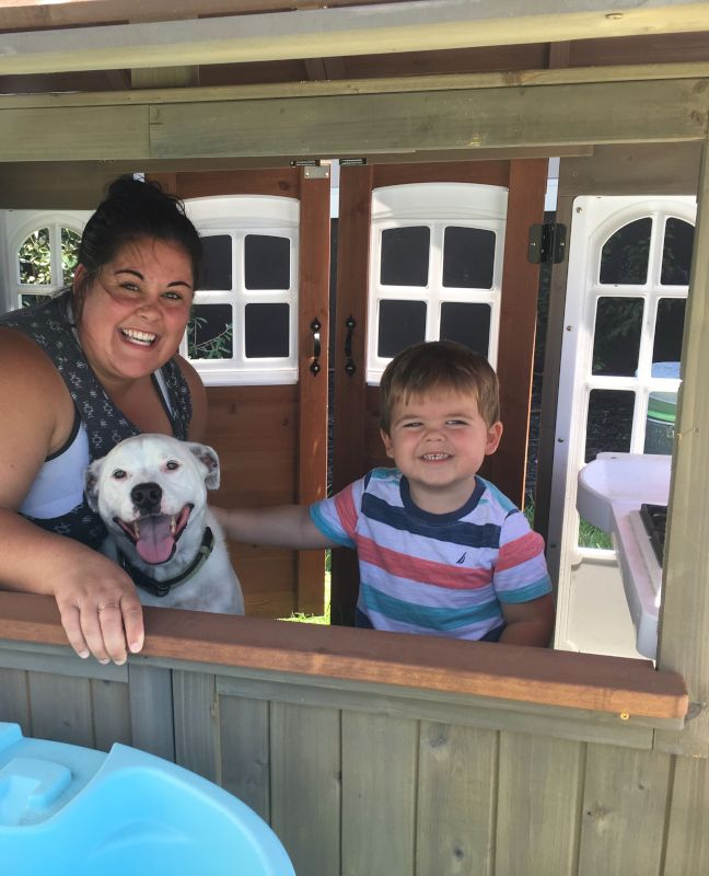 Marisa, Fin, and Albus Hanging Out in the Playhouse