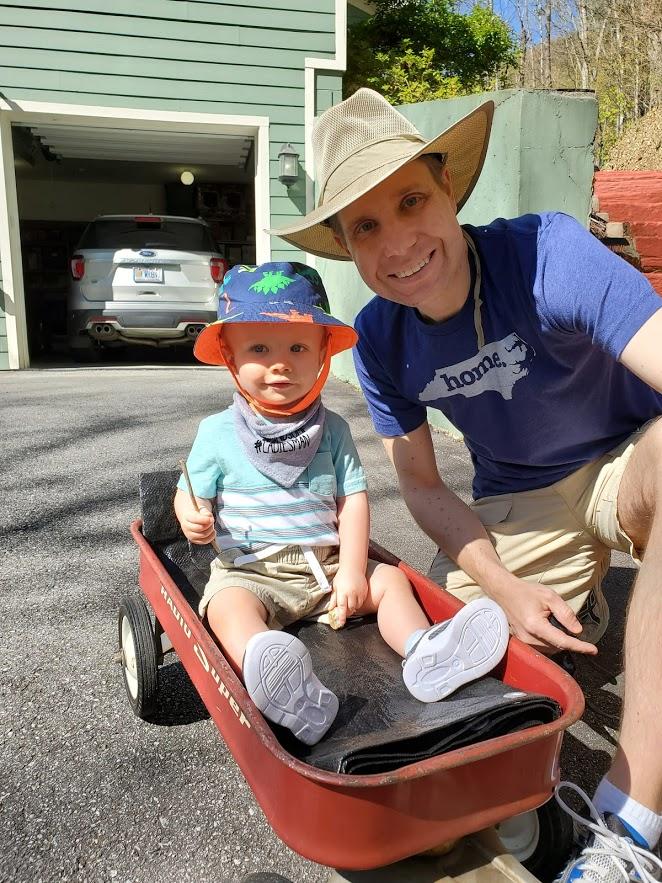Enjoying a Wagon Ride