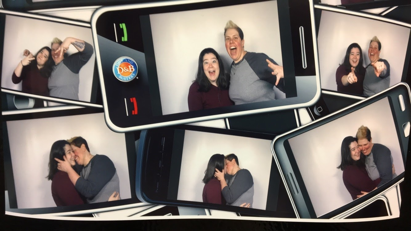 Goofing Off in a Photo Booth