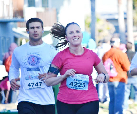 Abby Running a Half Marathon