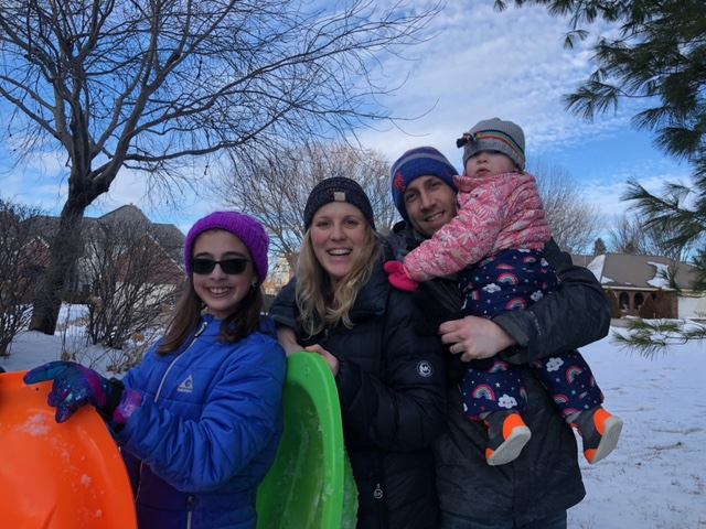 Sledding With Our Niece & Daughter