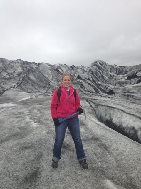 Abby Hiking a Glacier in Iceland
